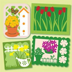 Samantha's Spring Notecard SVG Kit