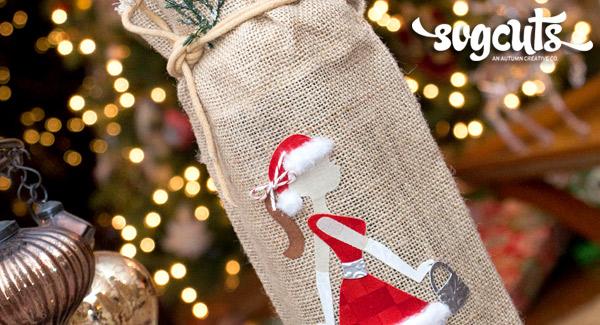 burlap-christmas-wine-bag-fabric-die-cut-svg-hero