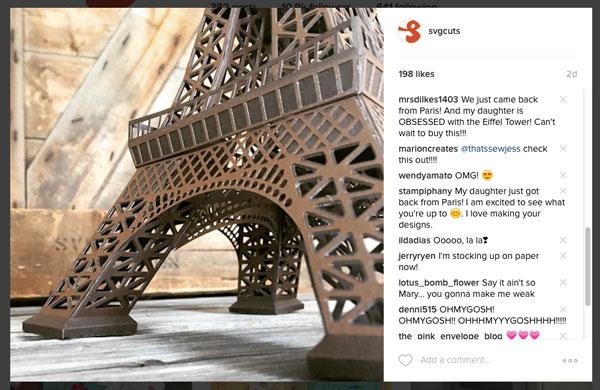 New Eiffel Tower Sneak Peek from SVGCuts - Coming Soon!
