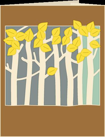 Free SVG File – 08.31.16 – Birch Trees Card