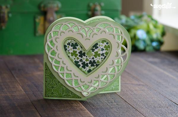 Saint Patrick's Day Doily Card