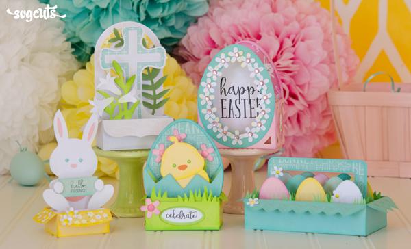 Easter Box Cards SVG Kit