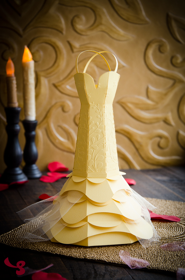 Belle of the Ball - DIY Paper Gown Gift Box