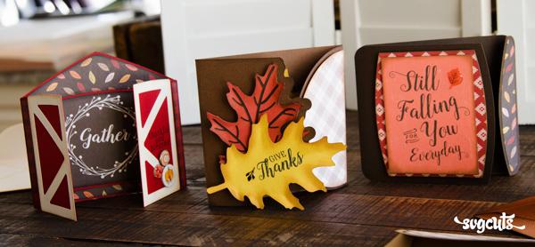 Autumn Gatefold Cards SVG Kit
