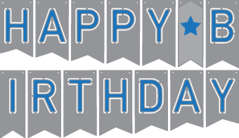 Free Birthday Banner Cutting File from SVGCuts #svgfiles #svgcuts