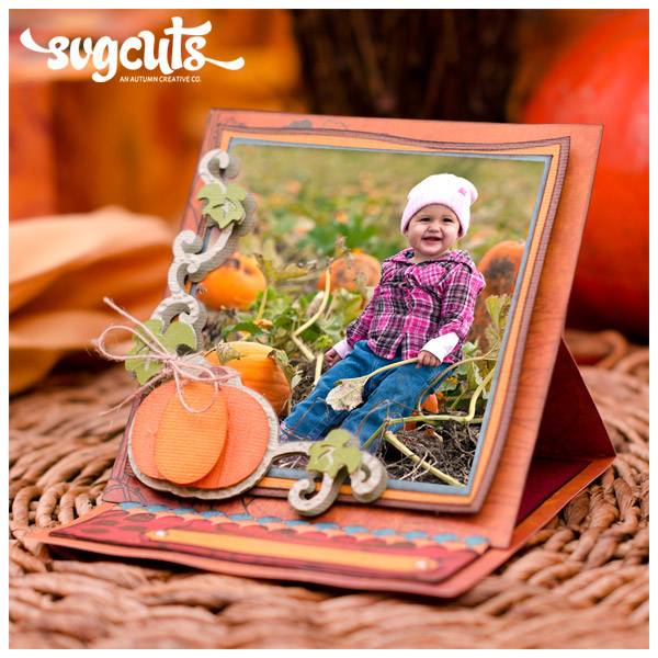 Caramel Apple Pie Stand-Up Card SVGCuts