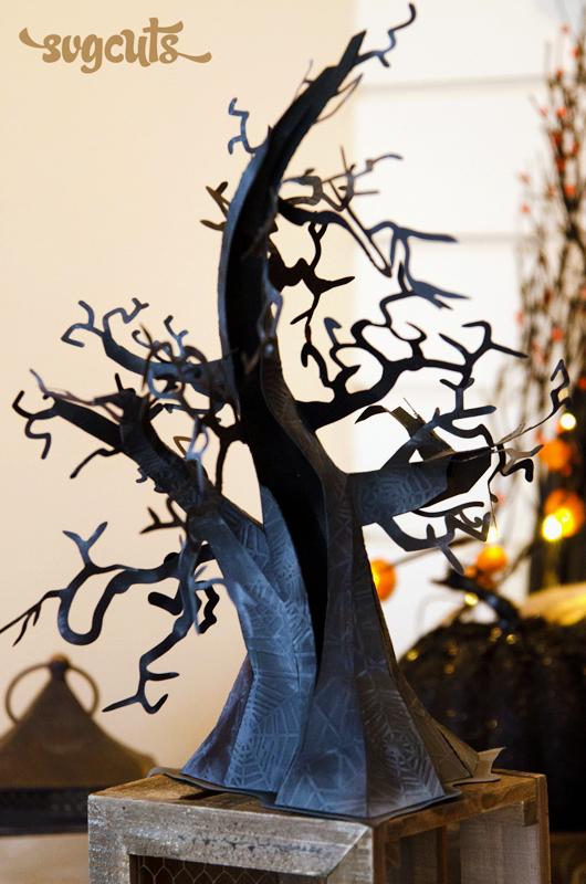 Ghosts N Goblins Spooky Tree SVGCuts