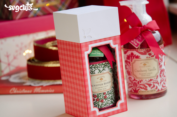 Free Gift Box Cutting File from SVGCuts #svgcuts