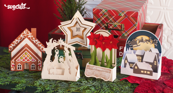 Yuletide Box Cards from SVGCuts