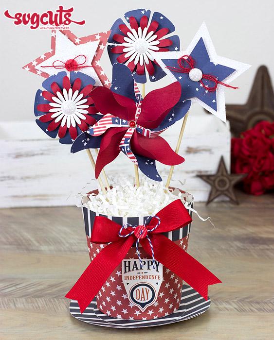 july 4th patriotic centerpiece decoration svg 1