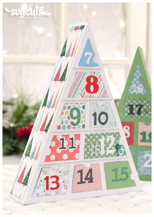 Advent Calendar Trees SVG Kit