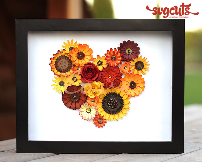 Autumn Love Shadow Box By Ilda Dias Svgcuts Com Blog