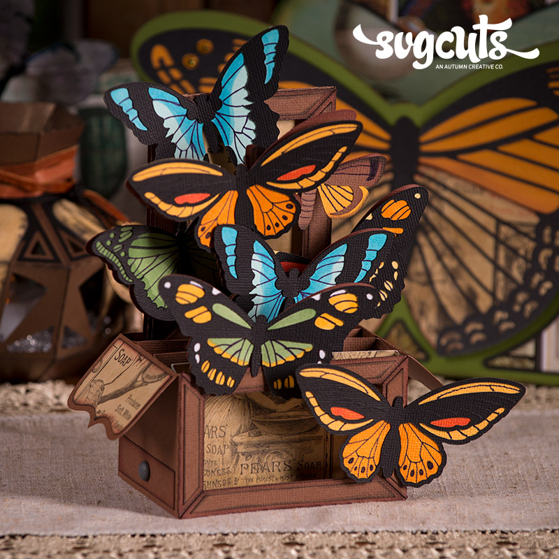 boho butterflies svg kit