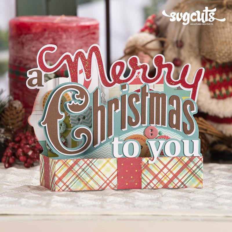 Christmas Box Cards SVG Kit