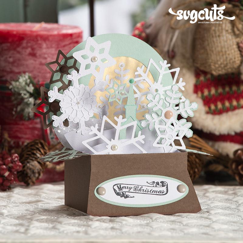 Christmas Box Cards SVG Kit | SVGCuts.com Blog