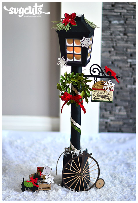 Christmas Lantern Street Lamp By Thienly Azim Svgcuts