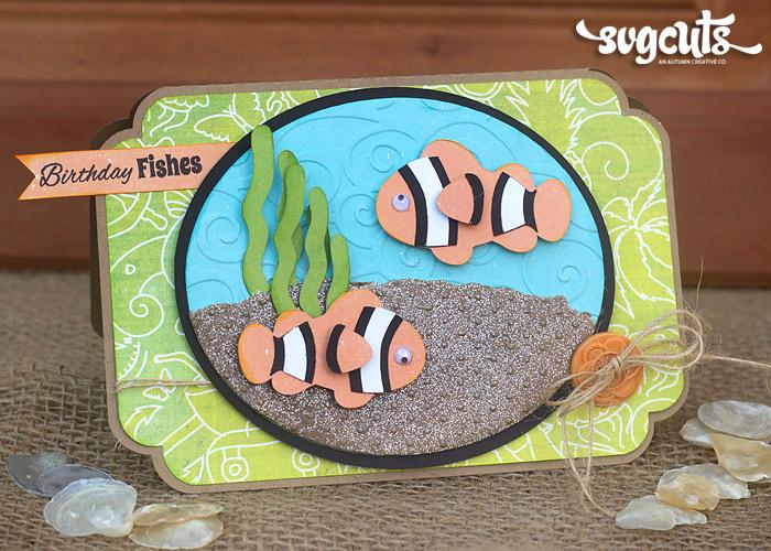 Fish Birthday Card gangcraftnet – Fishing Birthday Cards