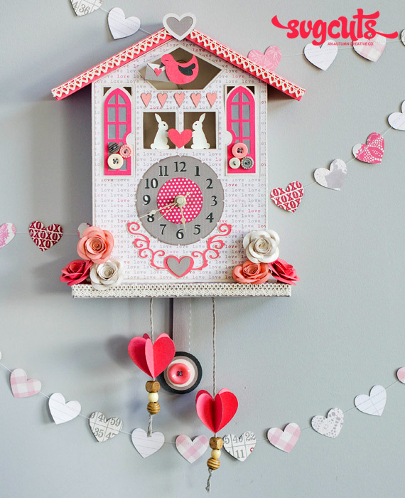 Cuckoo Over You Valentine Clock By Thienly Azim Svgcuts
