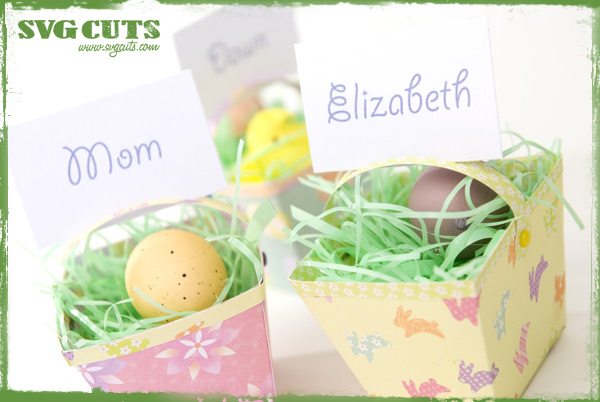 free svg file sure cuts a lot 02 27 10 easter basket placecard