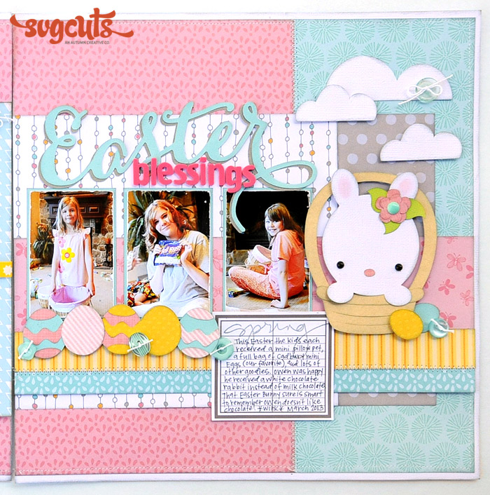 Easter Blessings Two-Page Layout by Jana Eubank | SVGCuts ...