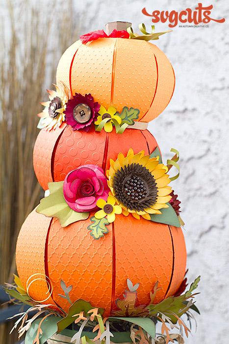 Fallin Pumpkins Centerpiece By Ilda Dias Svgcuts Com Blog