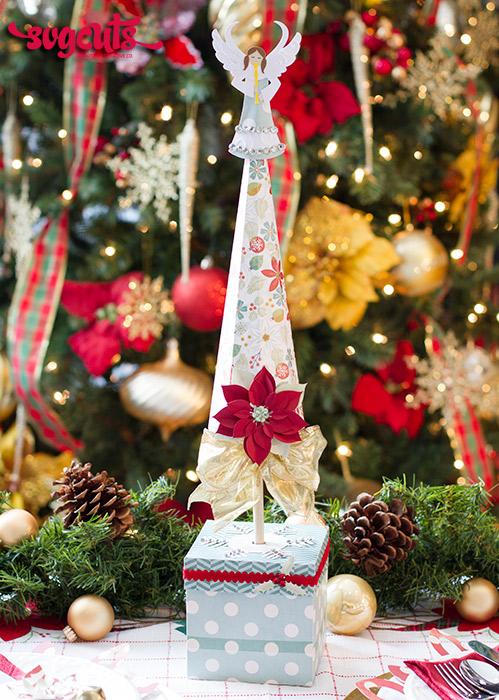 Excellent Festive Christmas Tablescape By Ilda Dias Svgcuts Com Blog Funny Birthday Cards Online Amentibdeldamsfinfo