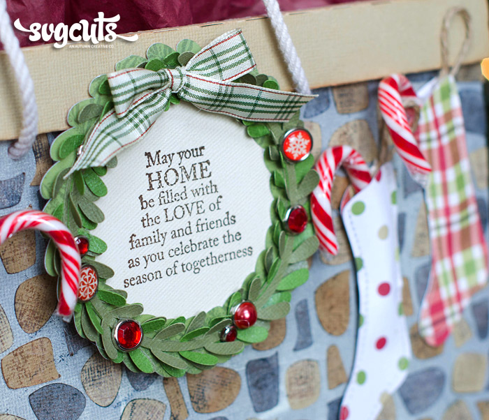 Cozy Fireplace Christmas Gift Bag By Thienly Azim