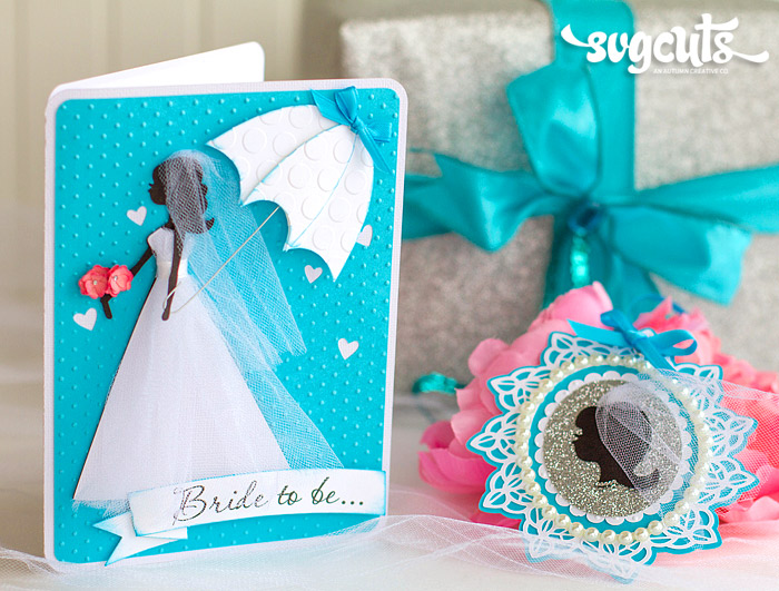 bridal card tag set gift svg 1