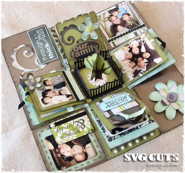 """Our Family"" Explosion Box by Thienly 