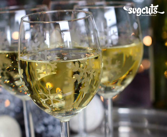 Winter Wonderland Etched Wine Glasses By Thienly Azim