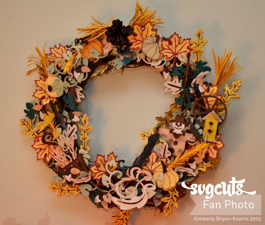 Kimberly's beautiful paper Autumn Wreath, inspired by Thienly's project.