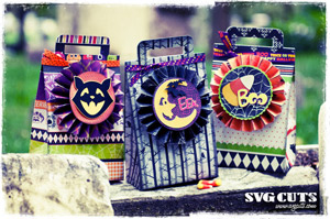 Vintage Halloween Party Bags SVG Kit