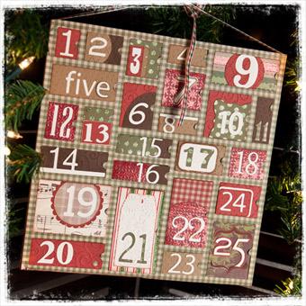 Classic Christmas Advent Calendar SVG Kit