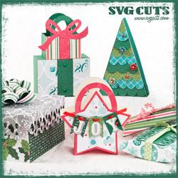 Christmas Gift Bags and Boxes SVG Kit