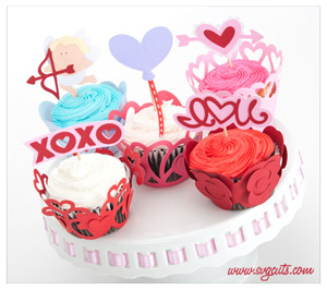 Valentine Cupcake Wrappers SVG Kit