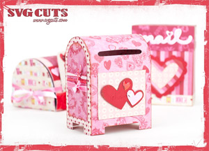 Valentine Mailboxes SVG Kit