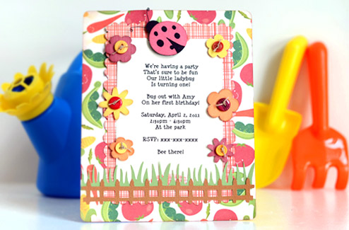 Thienlys Corner Themed Birthday Party Invitations