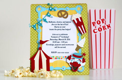 Thienlys corner themed birthday party invitations svgcuts blog carnival party invite stopboris Images