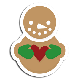 Snowman Gingerbread Cookie SVG