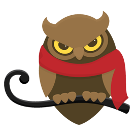 Blustery Owl SVG