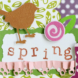 Thienly's Corner - Happy Spring Waterfall Card