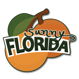 "Scrapbook your sunny Florida photos with this bright caption!  Perhaps you are lucky enough to live in The Sunshine State, or you have vacation photos (new or old)!  Maybe you know someone planning a vacation there soon and you can make them a card to wish them a happy trip.  You can also use the oranges by themselves (without the words and background layer) for any ""orangey"" project you may come up with.  Happy crafting!"