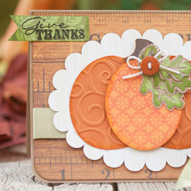 Give Thanks Card by Corri Garza