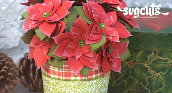 pretty paper poinsettia by corri garza