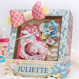 Baby Shadow Box by Kathy Helton