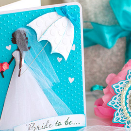 Something Blue Bridal Shower Card and Tag by Ilda Dias