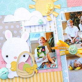 Easter Blessings Two-Page Layout by Jana Eubank