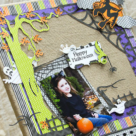 Happy Halloween Canvas by Kathy Helton