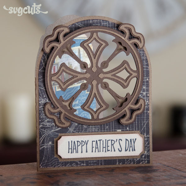 Father's Day Card Idea from SVGCuts - Art Nouveau Card from the Boho Butterflies SVG Kit