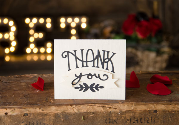 Free SVG File Thank You Card Blog